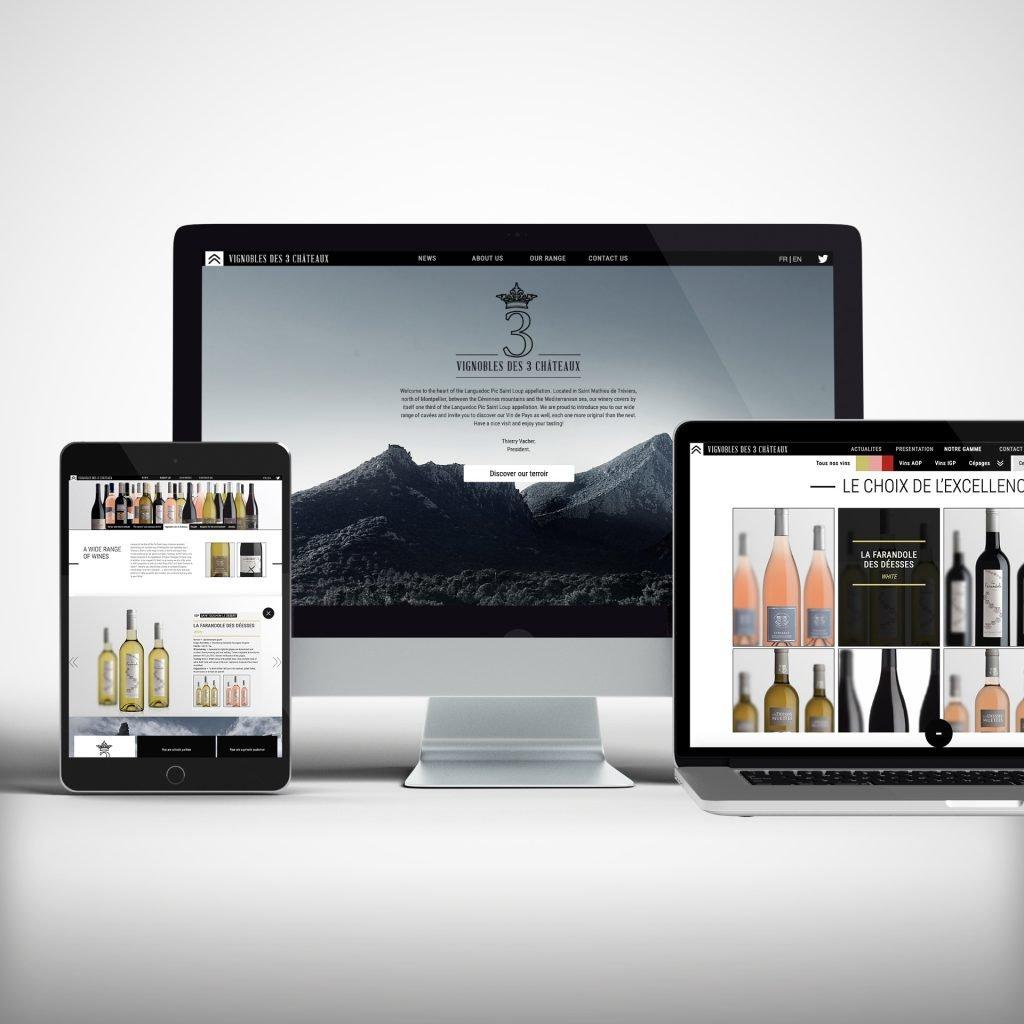 Création site Vignobles des 3 Châteaux